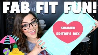 WOW! OVER A $300 VALUE! | FabFitFun Unboxing & Review! | Summer Editor's Box!