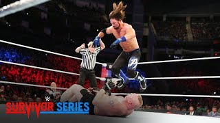 AJ Styles nails Brock Lesnar with a 450 Splash: Survivor Series 2017 (WWE Network Exclusive)