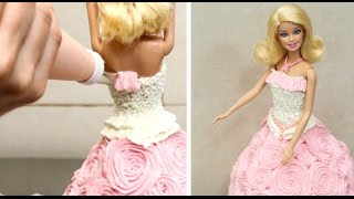 How To Decorate A BARBIE Doll Cake *Torta Muñeca Barbie!!!