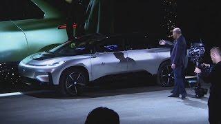 Awkward moment Faraday Future 'self-parking' car fails live demo