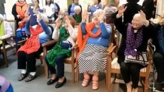 Elder enjoy community activity