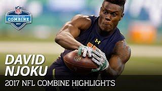 David Njoku (Miami, TE)   2017 NFL Combine Highlights