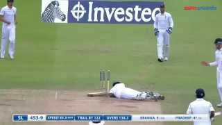Pradeep goes out hit wicket
