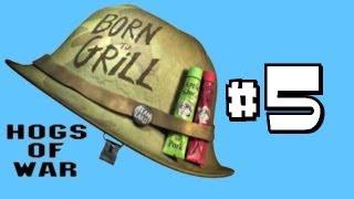 Let's Play Hogs of War (100% Walkthrough) Part 5 - Super Shotgun