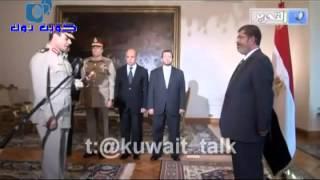 لحظة حلف السيسى القسم......وشوف الرئيس محمد مرسى ماذا قال له