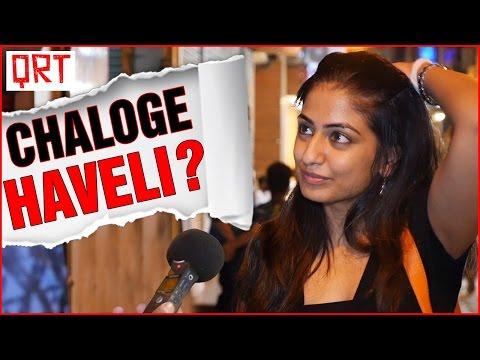 Asking Girls AAO KABHI HAVELI PE   Pranks in India   Funny Hindi Comedy Video   Quick Reaction Team