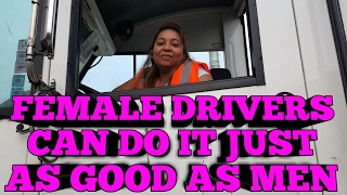 Female Truck Driving - Female Drivers * Not many out here
