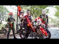 Special Police SWAT Warriors Use Skills Nerf Mod Fight Crime Group Mask Tiger Man