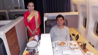 Thai Airways Royal First Class B747-400 London to Bangkok
