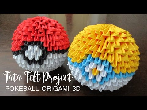 How To Make Poke Ball Origami 3d Fatafeltproject Playithub