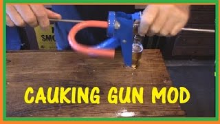 CAULKING GUN  MOD  - TURNS INTO A GAS/BRAKE PEDAL HOLDER