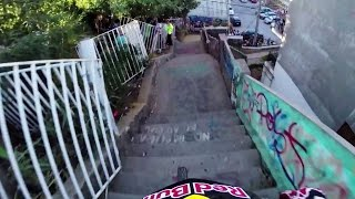 Insane Urban DH Mountain Bike POV - Red Bull Valparaiso Cerro Abajo 2015