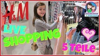 H&M LIVE SHOPPING 👗👕 Ava kauft 5 Teile H&M Haul 🛍 Geschichten und Spielzeug
