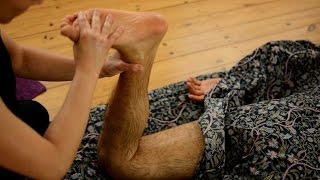 Ayurvedic Yoga Massage, ASMR, Full Body Part 3: Legs and Feet