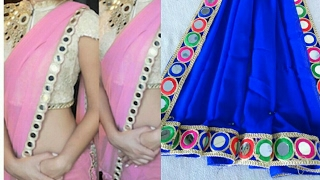 Saree making at home with beautiful border easy step by step tutorial
