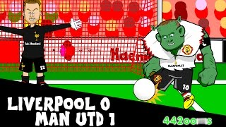 Liverpool vs Manchester United 0-1 2015-2016 (Wayne Rooney goal! 17.1.16)
