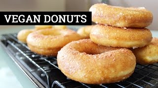 How To Make Vegan Donuts [Glazed Fried Yeast Doughnuts] | Mary