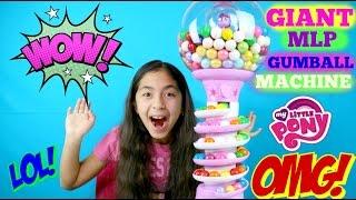 My Little Pony Giant Gumball Machine Super Gumball Rainbow| B2cutecupcakes