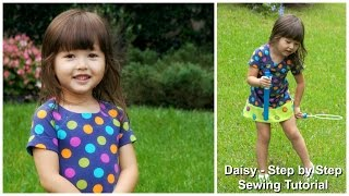 How to sew an A line  Dress with Raglan Sleeves - Step by Step Tutorial