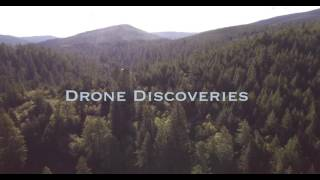 Flying high down river PAN back Redwood Forest, Aerial, 4K, 39s, 43of50, Forest Trees, Northern Cali