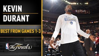 ALL Of Durant's Best Highlights From Games 1-3 Of The NBA Finals