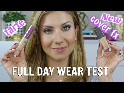 NEW COVER FX POWER PLAY CONCEALER VS TARTE SHAPE TAPE ALL DAY WEAR TEST
