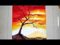 Sunset Scenery Rangoli designs with colours for Diwali   Poster Rangoli Design