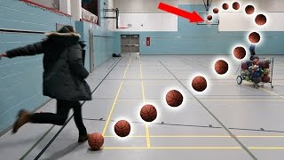 IMPOSSIBLE BASKETBALL TRICK SHOTS!!