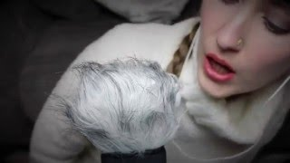 ASMR Fluffy Microphone Brushing, Unintelligible Whispers, Mouth & Kissing Sounds Assortment