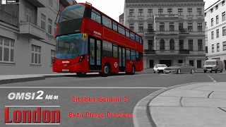 Omsi 2: London Citybus Gemini 3 Beta Phase Preview 1