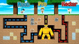MINECRAFT: NOOB VS PRO VS HACKER VS MIKECRACK MUTANTE 😱