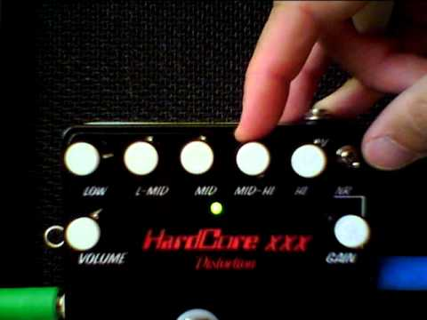 Hard Core xxx demo with les paul and clean channel boogie f-50 metal pedals