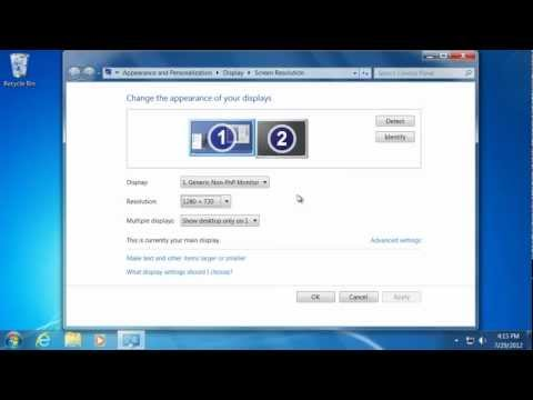 How to Change Display Settings - Learn Windows 7