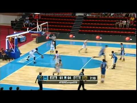 V.Charalampopoulos, G.Papagiannis and A.Koniaris [01.09.14] vs Italy U18 - 44 Points