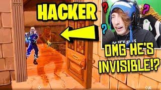 I KILLED AN INVISIBLE FORTNITE HACKER! (Fortnite Invisible Glitch !?) | Fortnite Battle Royale