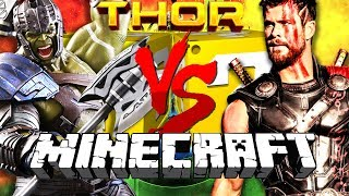 Minecraft: THOR RAGNAROK LUCKY BLOCK CHALLENGE | BUILD A SUPERHERO WORKSHOP