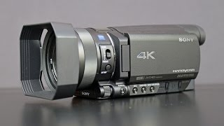 Sony 4K Handycam (FDR-AX100): Unboxing & Overview