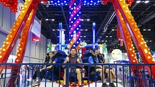 Back at the 2016 IAAPA expo trying new ATTRACTIONS!!!