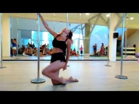 Intermediate Pole Dance feeling good