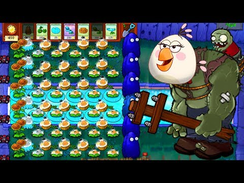 Plants vs Zombies Mod Angry Birds - TEAM PLANTS ANGRY BIRDS FIGHT! (P1)
