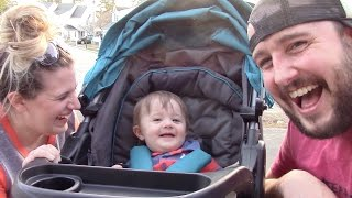 Baby Brody's New Time Machine Toy, Baby Loves Open Fridge, First Forward Stroller Ride And Walmart!