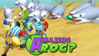 SHARKS EVERYWHERE! #SHARKWEEK - Amazing Frog - Part 52 | Pungence