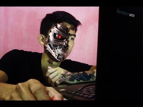TUTORIAL manipulasi muka setengah robot terminator (TUTORIAL INDONESIA)
