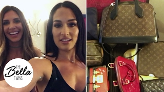 LUGGAGE HACK! Nikki Bella SLAYS at organizing clothes for traveling!