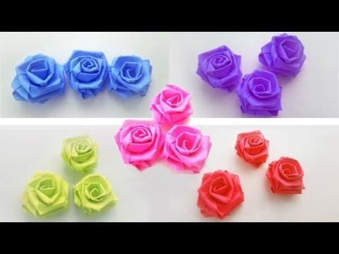 Episodio 639 Cómo hacer rosas pequeñas con tiras de papel manualidadesconninos