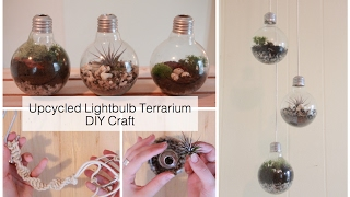 How To Make A Light Bulb Terrarium & Macrame Wall Hanging | DIY Crafts