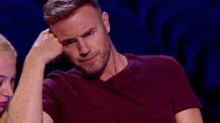 Watch Gary get his grump on - The X Factor UK 2012
