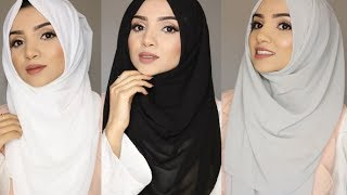 SIMPLE FULL COVERAGE HIJAB STYLES