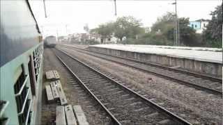 Rajdhani Blast: Very High Speed Rajdhani Express Overtakes on Indian Railways