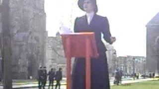 Speakers Corner - Bristol 2011 - Emmeline Pankhurst